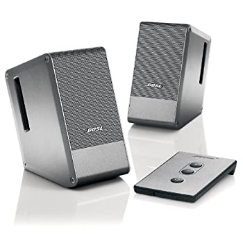 The Bose® Computer MusicMonitor was developed for the growing number of people who use their computers for personal entertainment--and want accurate, detailed sound from an elegant yet unobtrusive system.Until now, high quality desktop sound with d...