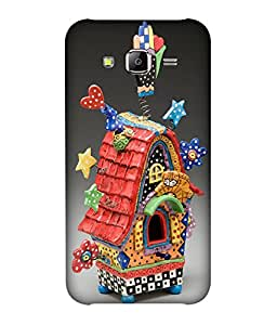 small candy 3D Printed Back Cover For Samsung Galaxy On7 -Multicolor illustration