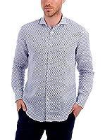 BLUE COAST YACHTING Camisa Hombre Lino (Azul)