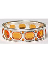 Stone Studded Hinged Bracelet - Metal - B00K4F1L90