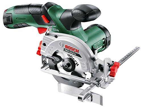 Bosch-DIY-Mini-Handkreissge-PKS-108-LI-Akku-Ladegert-Sgeblatt-fr-Holz-Adapter-fr-Staubsauger-Parallelanschlag-Karton-108-V-20-Ah-85-mm-Kreissgeblattdurchmesser