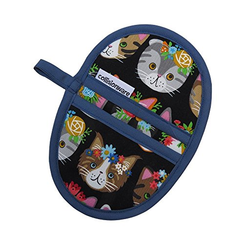 Flower Cats Mini Oven Mitt - Handmade (Oven Mitt Small compare prices)