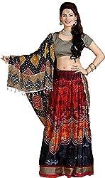 SAI Fabrics Women's Printed Lehenga Choli With American crap inner