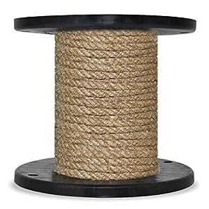 5m 6mm -- HANFSEIL Naturfasern gedreht Naturhanf Tauwerk Hanf Jute Tau Seil Tauziehen