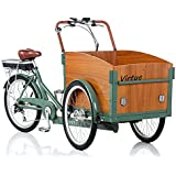 Virtue ELECTRIC Schoolbus+ in Atlantis Green, Wagon Cargo Utility Bicycle - Refurbished