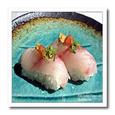 Rick London Fine Art Sushi Gifts - Scrumptious Pieces Of Sushi - 10x10 Iron on Heat Transfer for White Material (ht_25816_3)