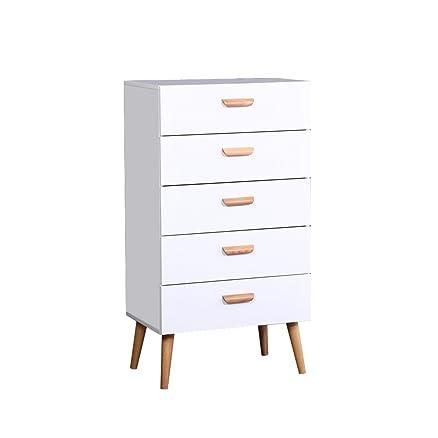 Beyonda kj-dj-dg005-ww cassettiera con 5cassetti mobili per camera da letto corridoio Storage Bed Side attira, a cassetti (bianco) White
