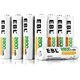 EBL 16 Pack AA 2800mAh Ni-MH Rechargeable Batteries with Battery Storage Case