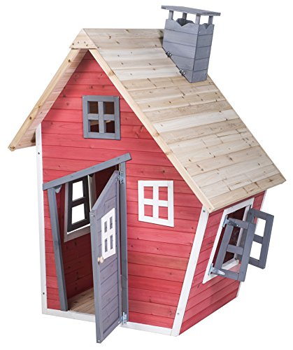 Toys wooden playhouse preview merax children 39 s wood Outdoor playhouse for sale used