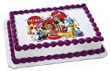 1/4 Sheet ~ Disney Mickey & Friends & Gang Birthday ~ Edible Image Cake/Cupcake Topper!!!