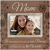 Malden Sun Washed Words Mom Walnut Distressed Picture Frame, 4 by 6-Inch