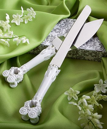 Fairytale Wedding Cake Knife & Server Set, 1