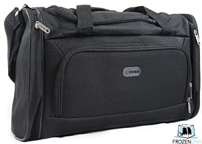 Black Travel Shoulder Bag with Lock | Travel cabin size luggage | travel bags hand luggage | Ryanair & Easy Jet Cabin Approved