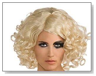 Lady Gaga Blonde Curly Hair Wig