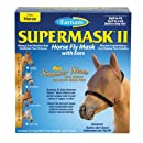 Farnam SuperMask II Fly Control Mask with Ears for Horses, Horse, Copper Mesh with Black Trim