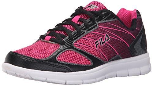 Fila Women's 3A Capacity-W Running Shoe, Pink Glow/Black/Castlerock, 7 M US