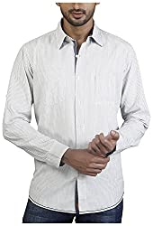 Repique Men's Botton Front Cotton Shirt(Seb-109,White,X-large)