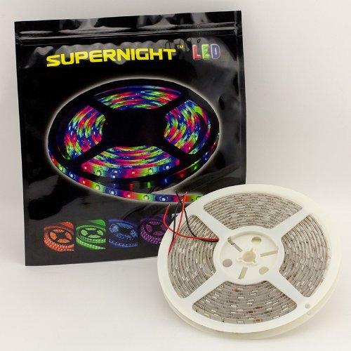 Supernight (Tm) 16.4Ft Smd 5050 Waterproof Red Color 150Leds Led Strip Light Flexible,5M 60Led/M 12V 150 Led Strip front-618338