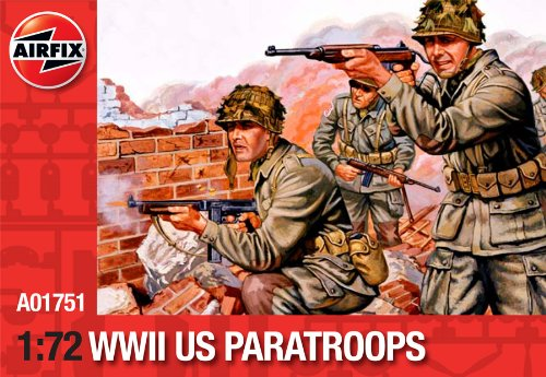 Airfix A01751 WWII US Paratroops Model Building Kit, 1:72 Scale