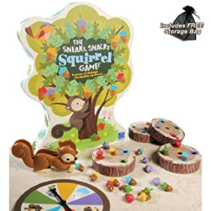 The Sneaky, Snacky Squirrel Game with Free Storage Bag