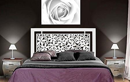 Têtes de lit en fer forgé: modèle FLEURS.