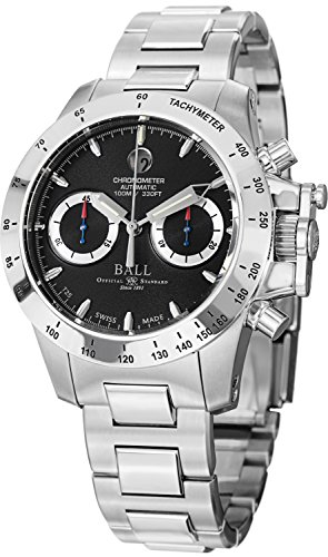 Ball CM2098C-SCJ-BK Watch Magnate Choronograph Mens - Black Dial Stainless Steel Case Automatic Movement