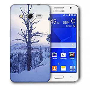 Snoogg Frozen Tree Printed Protective Phone Back Case Cover For Samsung Galaxy Core 2 / Core II G355H