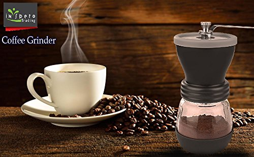 Manual Coffee Grinder, Top Quality, Stainless Steel, Fortified Glass, Ceramic Core, Adjustable Grinder, Make Fresh Coffee With The Portable, Durable Coffee Bean Grinder, For Coffee Enthusiasts