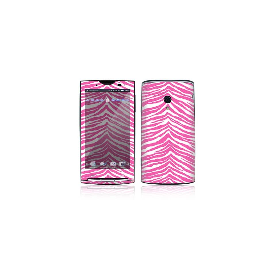 Pink Zebra Decorative Skin Cover Decal Sticker for Sony Ericsson Xperia X10 Cell Phone