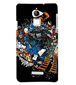 City life Graffiti 3D Hard Polycarbonate Designer Back Case Cover for Coolpad Note 3 Lite :: Coolpad Note 3 Lite Dual SIM