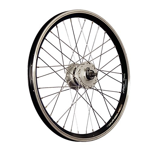 Taylor Wheels 20 Zoll Vorderrad Grünert Dynamic4 Shimano Dynamo Vollachse sw