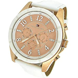TOMMY HILFIGER CHRONOGRAPH LEATHER LADIES WATCH - 1781143