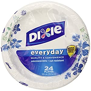 Dixie Plates, 24 Count, 10 1/16 Inches