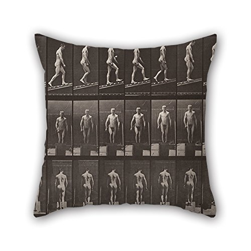Uloveme Oil Painting Eadweard Muybridge - Animal Locomotion, Plate 74 Pillow Shams 16 X 16 Inches / 40 By 40 Cm Best Choice For Study Room,bench,him,couples,monther,christmas With Double Sides