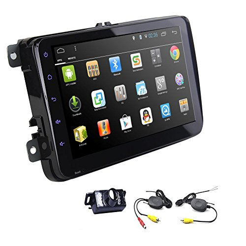 Android Car Stereo Special for Volkswagen with Quad Core 5.1 Lollipop System in Dash VW Car NO dvd Player Autoradio GPS Navigation with 8 inch Touch Screen with wireless Rearview Camera (2013 Jetta Bluetooth Module compare prices)