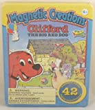 Magnetic Creations Playset - 42 Magnetic Pieces - Clifford The Big Red Dog (BT68)