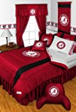 Alabama Crimson Tide QUEEN Size 14 Pc Bedding Set (Comforter, Sheet Set, 2 Pillow Cases, 2 Shams, Bedskirt, Valance/Drape Set - 84 inch Length & Matching Wall Hanging) - SAVE BIG ON BUNDLING! at Amazon.com