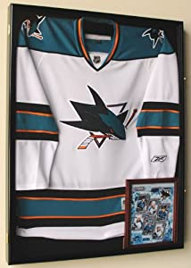 XL Hockey Jersey Frame Display Case Cabinet Shadow Box w  UV Protection -Black... by sfDisplay