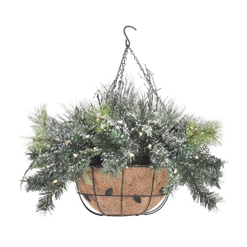 Christmas Hanging Baskets With Lights.Best Christmas Hanging Baskets With Lights
