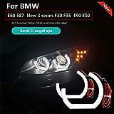 Auto Angel Eyes light DTM STYLE M4 STYLE daytime light Retrofit angel headlights For BMW 3 Series E90 E92 E93 M3 (Semi-U Angel Eyes) (Color: Semi-U Angel Eyes)