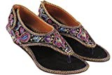 Vinayak Collection Women Multi colored Embroidered Sandals