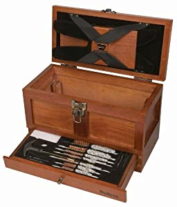 Outers 25 - Piece Universal Wood Gun Cleaning Tool Chest (.22 Caliber and up) by Outers