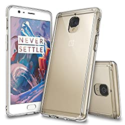 Oneplus 3 Case, Ringke [FUSION] Crystal Clear PC Back TPU Bumper [Drop Protection/Shock Absorption Technology][Attached Dust Cap] For Oneplus 3 - Crystal View
