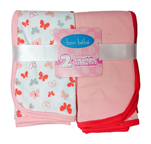 Newborn Baby Receiving Blanket - Newborn Swaddle Receiving Blankets 2 Pack (peach)