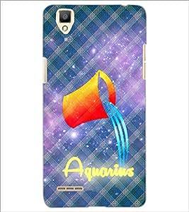 PrintDhaba Zodiac Aquarius D-3245 Back Case Cover for OPPO F1 (Multi-Coloured)