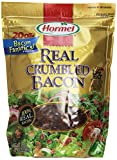 Hormel Premium Real Crumbled Bacon in our 20 oz. size is great for restaurants, cafeterias, child care, bed and breakfast, churches, schools and personal use as well. Hormel Crumbled Bacon is ideal for salad bars, egg dishes, pizza, burgers and as a recipe ingredient. An excellent value, 20 oz. of Hormel Crumbled Bacon is equal to 5 lbs. of uncooked bacon.