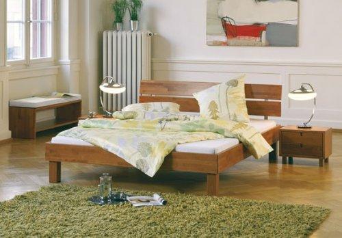 Stilbetten Bett Felix Buche Kirschbaumfarbig 180x200 cm