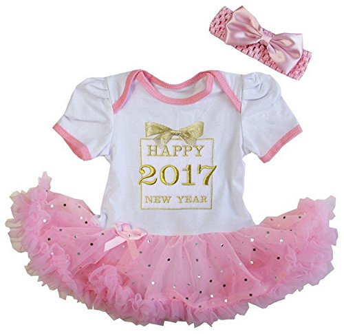 Kirei Sui Baby Happy 2017 New Year Gift Box Bodysuit Medium White