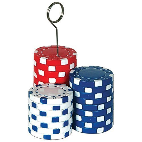 Poker Chips Photo Holder Weight by Century Novelty