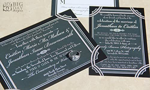Amazoncom a glamorous gatsby wedding invitation sample for Wedding invitations 50 cents each